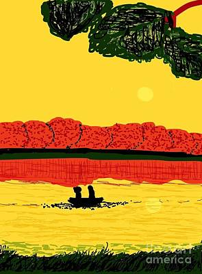 A Date At Sunset Original by Ishy Christine Degyansky