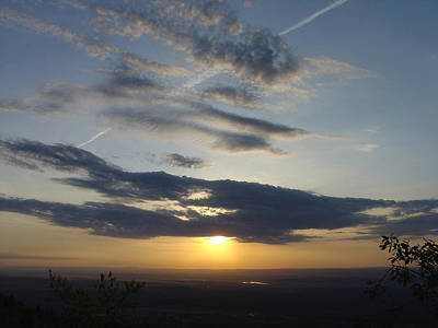 Photograph - A Dated Sunrise From The Mountain House Site by Terrance DePietro