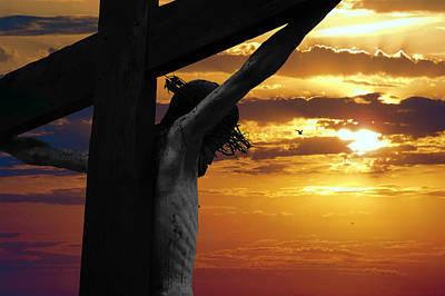 Crucifix Mixed Media - A Day At Golgotha by Daniel Hagerman