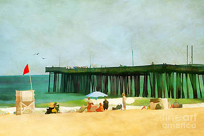 A Day At The Beach Art Print by Darren Fisher