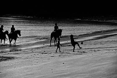 A Day At The Beach Art Print by Douglas Barnard