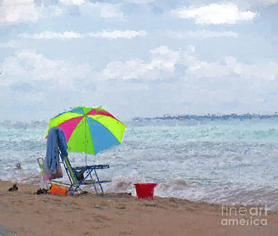 Photograph - A Day At The Beach by Kerri Farley