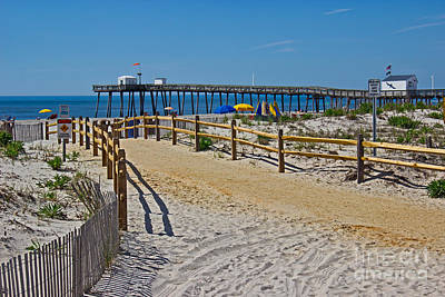 Sand Fences Photograph - A Day At The Beach by Tom Gari Gallery-Three-Photography
