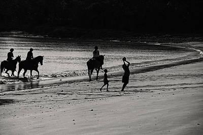A Day At The Beach V2 Art Print by Douglas Barnard