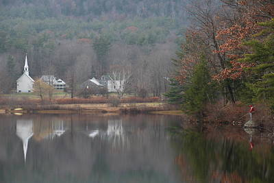Photograph - Crystal Lake Little White Church  by Jeffrey Akerson