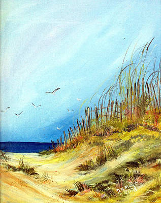 Art Print featuring the painting A Day At The Ocean by Dorothy Maier