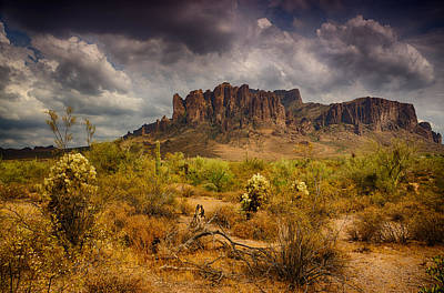 A Day At The Superstitions  Art Print
