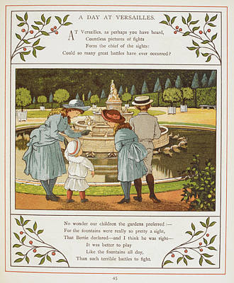 A Day At Versailles Art Print by British Library