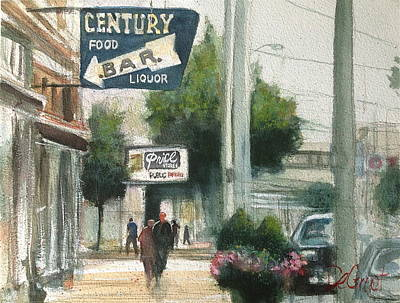 Painting - A Day In Downtown Dayton by Gregory DeGroat