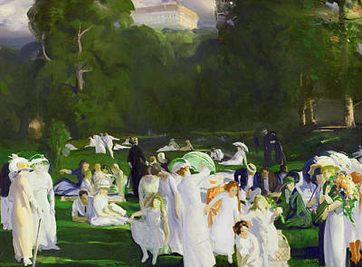Society Life Painting - A Day In June by George Wesley Bellows