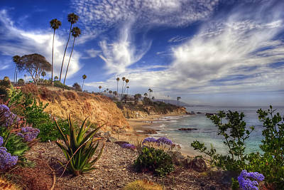 A Day In Laguna Beach Art Print by Sean Foster