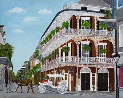 Painting Royalty Free Images - A Carriage Ride in the French Quarter Royalty-Free Image by Judy Jones