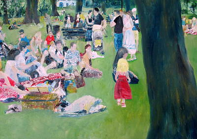 Sunday Picnic Painting - A Day In The Life by Fabrizio Cassetta