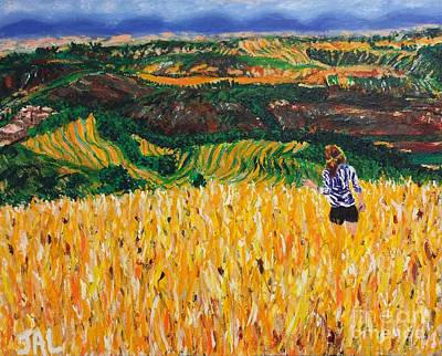 Italian Wine Painting - A Day In Tuscany by Jennifer Lombardo