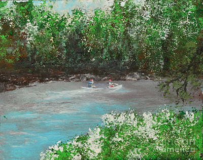 Indiana Rivers Painting - A Day On The White River by Alys Caviness-Gober