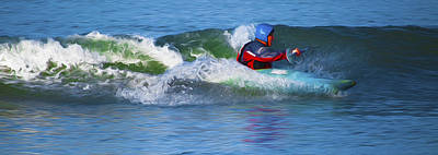Digital Art - A Day Out With The Kayak. by Timothy Hack