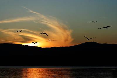 Sundown Photograph - A Days End by Christina Lynn