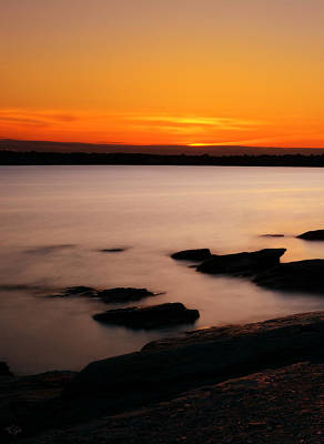 Black And Orange Photograph - A Day's End by Lourry Legarde