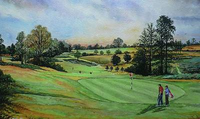 Sports Paintings - A Days Golf  by Andrew Read