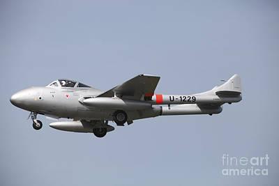 A De Havilland Dh 112 Venom Jet Trainer Art Print by Timm Ziegenthaler