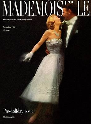 A Debutante In A Ballgown By Carolyn Fashion Art Print by Stephen Colhoun