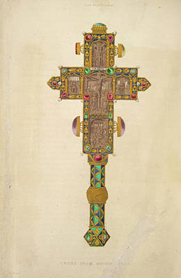 Mountain Photograph - A Decorated Cross by British Library