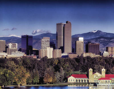 Denver Skyline Photograph - A Denver Autumn by Mountain Dreams