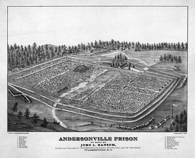 Blue Hues - A depiction of Andersonville Prison by Celestial Images
