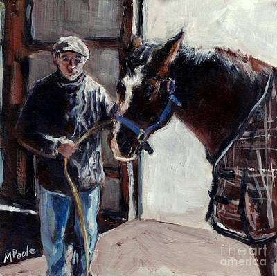 Old Barn Painting - A Derby Day Of Sorts by Molly Poole