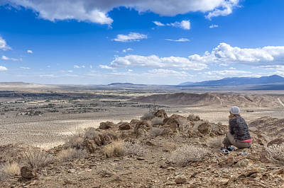 Photograph - A Desert View by Dave Hall