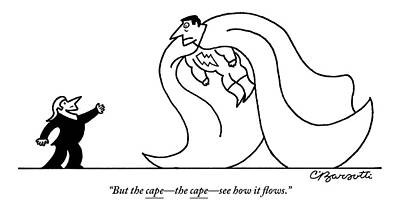 Drawing - A Designer Applauds A Super Hero by Charles Barsotti