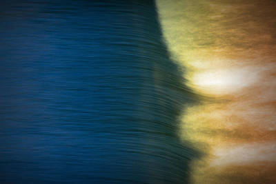 Photograph - A Detail Of The Rapid Falls In The Grand River by Randall Nyhof