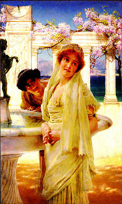 Difference Of Opinion Painting - A Difference Of Opinion By Sir Lawrence Alma Tadema by MotionAge Designs