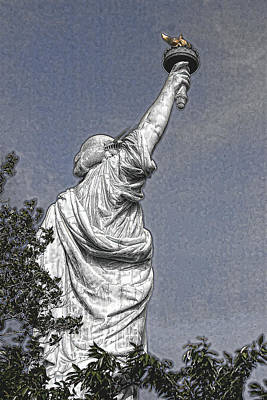 Photograph - A Different Lady Liberty View by Wes and Dotty Weber