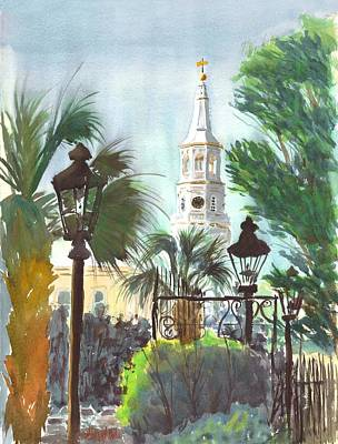 Streetscape Painting - A Different View by Vincent Bobo