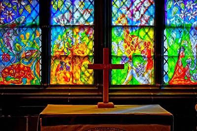 Religious Artist Mixed Media - A Digitally Converted Painting Of Stained Glass Windows by Ken Biggs