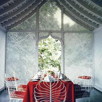 A Dining Verandah In The Home Of Mr. Odo Art Print by Rudi Rada