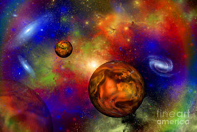 Digital Art - A Distant Alien Solar System Whose by Mark Stevenson