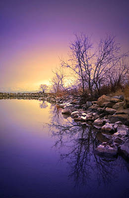 Okanagan Lake Photograph - A Distant Glow by Tara Turner