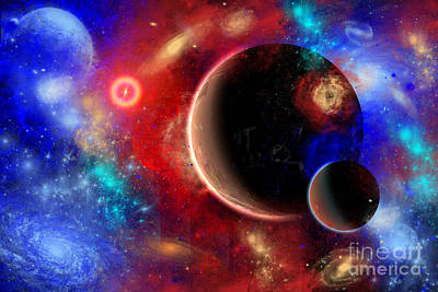 Digital Art - A Distant Part Of Space Filled by Mark Stevenson