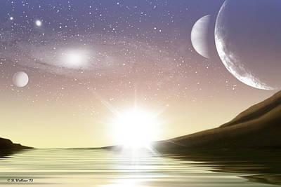 A Distant World Sunset Art Print