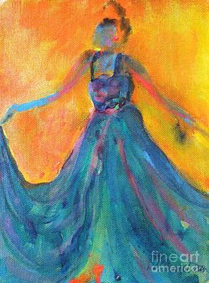 Fancy Shoes Painting - A Diva In A Dress by Deb Magelssen