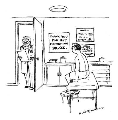 2012 Drawing - A Doctor Walks Into An Office Where A Patient by Nick Downes