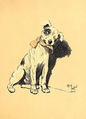 A Dog Day 1902-b Print by D and I  Printing