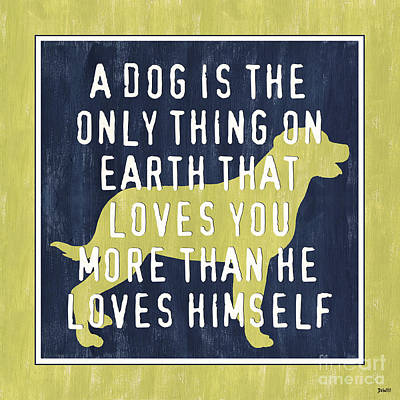 A Dog... Art Print by Debbie DeWitt