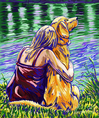 Painting - A Dogs Love by Tim Gilliland
