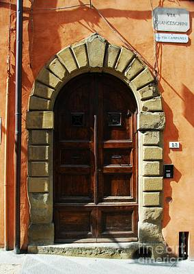 A Door In Tuscany Art Print by Mel Steinhauer