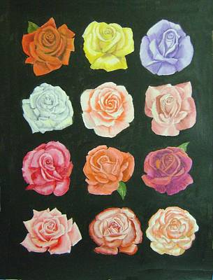 Painting - A Dozen Roses by Ruth Seal
