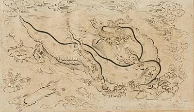 Jerusalem Painting - A Dragon Within A Landscape by Celestial Images