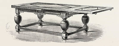 Seventeenth Century Drawing - A Drawing Table. Seventeenth Century by English School